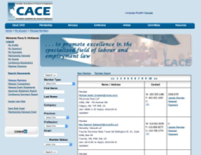 CACE inner page