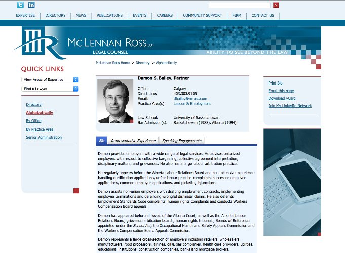 MRoss lawyer profile page