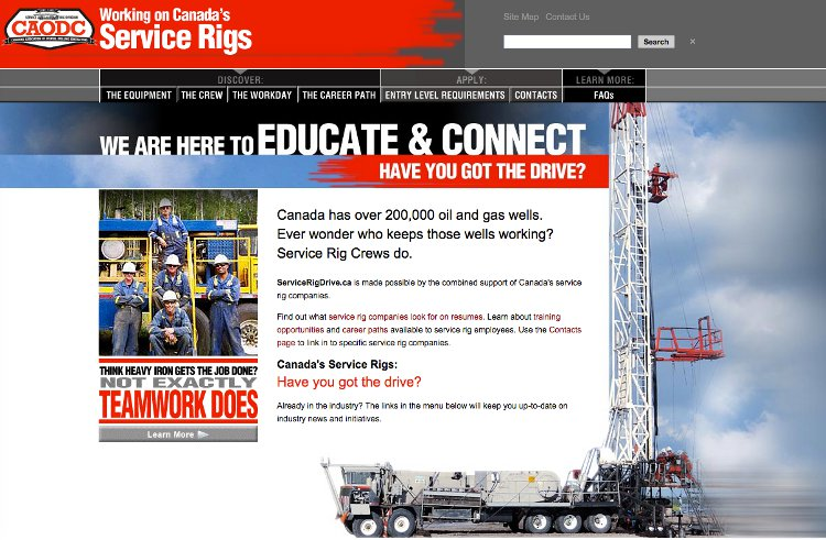 Service Rig home page